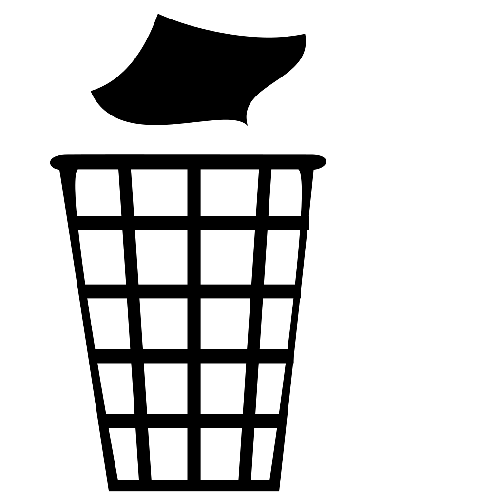 graphic freeuse library Trash can clipart black and white. File trashcan svg wikimedia
