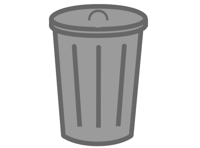 image royalty free stock Png free images toppng. Trash can clipart black and white