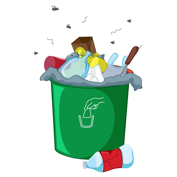 banner free download Trashcan clipart odor. Waste container landfill a.