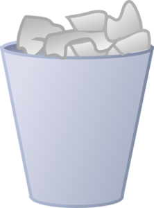 graphic freeuse Trashcan clipart cartoon. Cleaned garbage can clip.