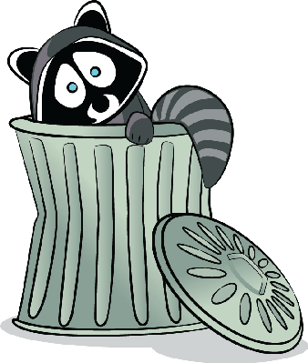 graphic free stock Trash clipart. Raccoon in the science