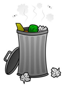 clip royalty free Cartoon . Trash drawing.
