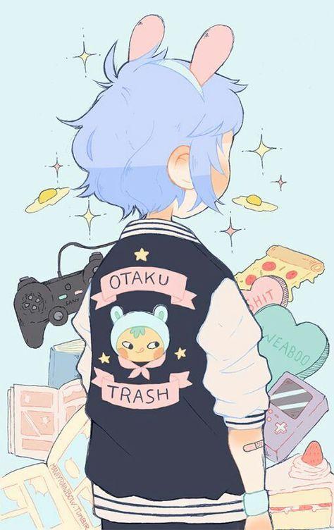 vector library download Trash drawing kawaii. Otaku artsy art cute