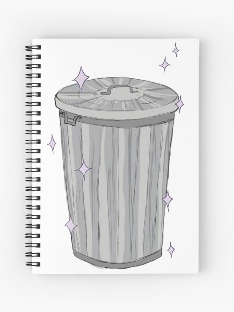 banner transparent stock Trash drawing kawaii. Can spiral notebook