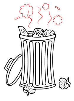 clip royalty free Trash drawing. Cartoon .