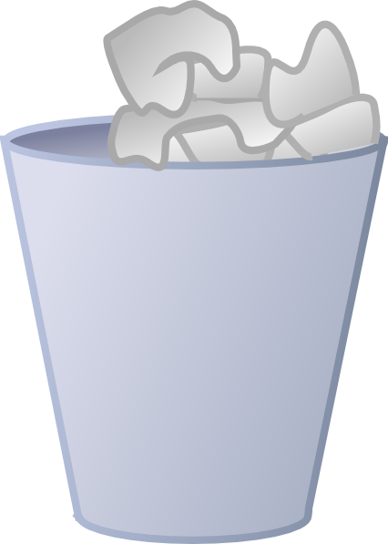 clipart stock Trashcan clipart. Bathroom trash can