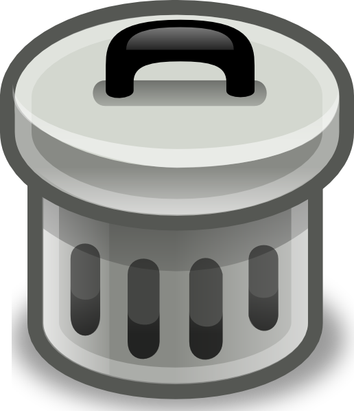 svg library download Trashcan clipart animated. Trash can with lid