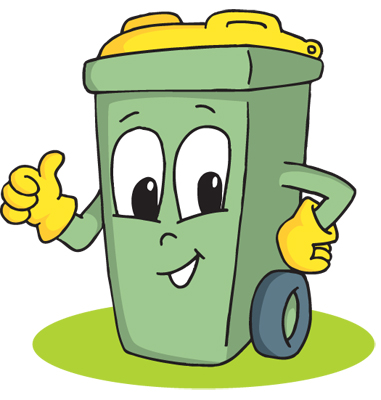 graphic Cartoon trash can free. Trashcan clipart animated.