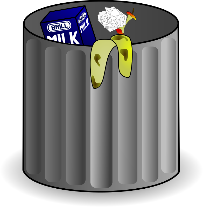 graphic black and white library Trashcan clipart animated. Trash can medium image