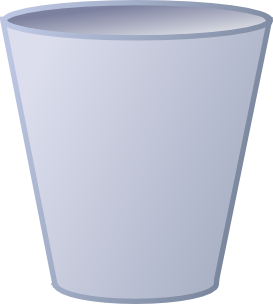 clip royalty free Open Garbage Can Clipart