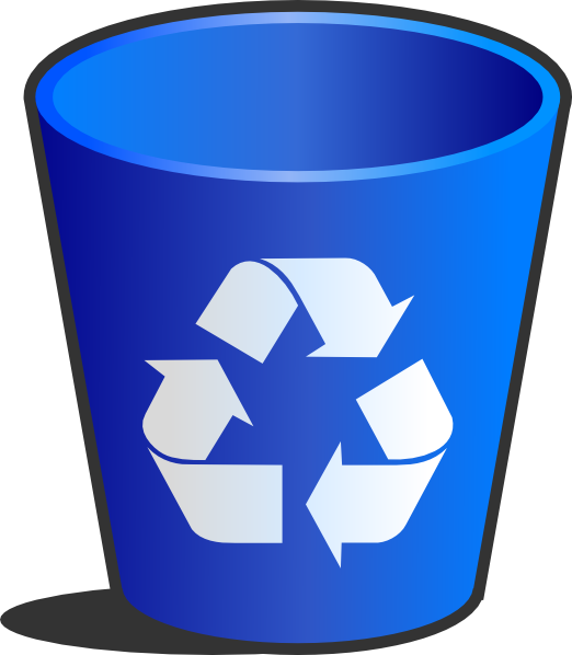 banner stock Recycle bin clip art. Trashcan clipart animated