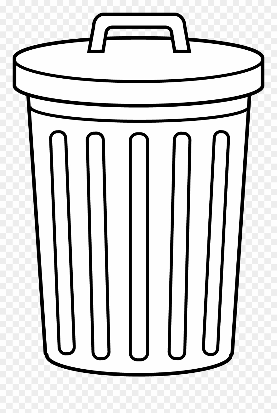 vector freeuse Trashcan clipart bin.  clip art trash.