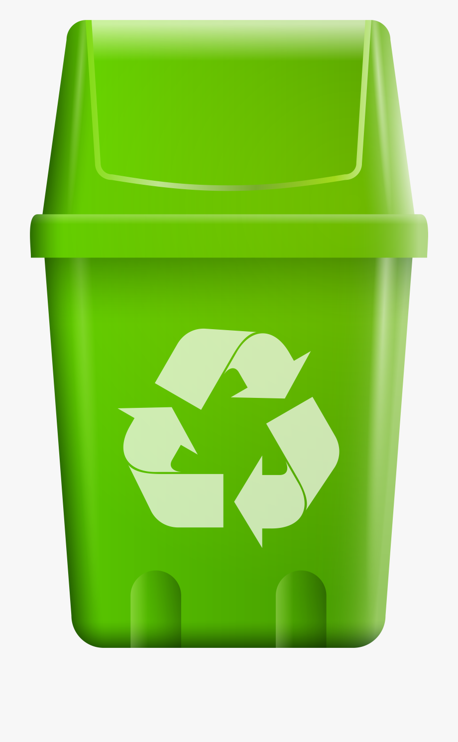 royalty free download Trash with recycle symbol. Trashcan clipart bin.