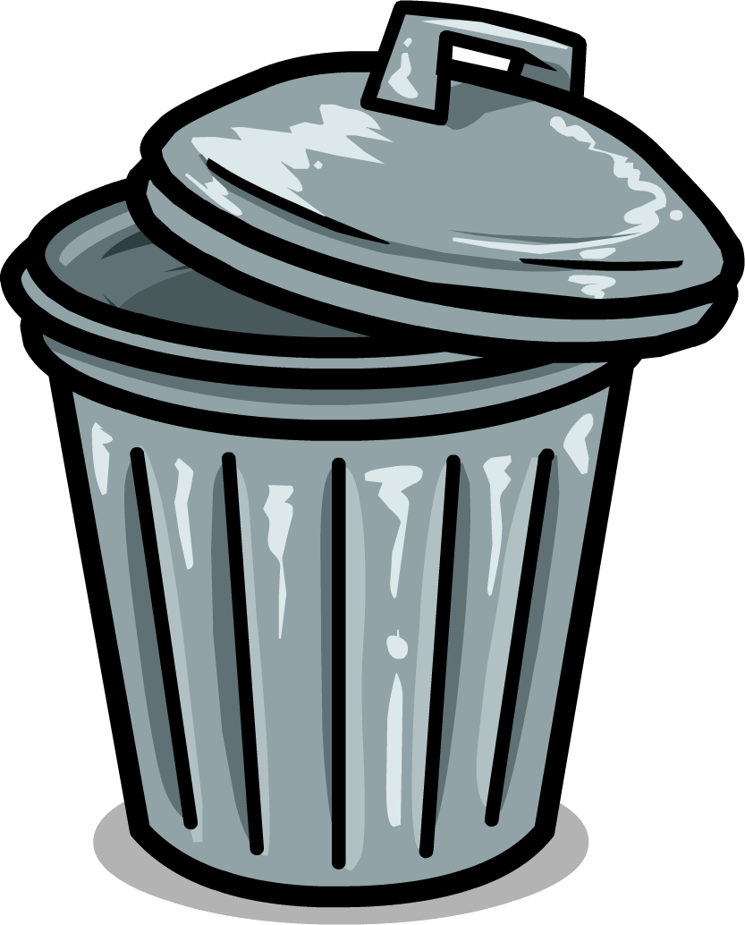 clip art black and white download Trash can at getdrawings. Trashcan clipart bin.