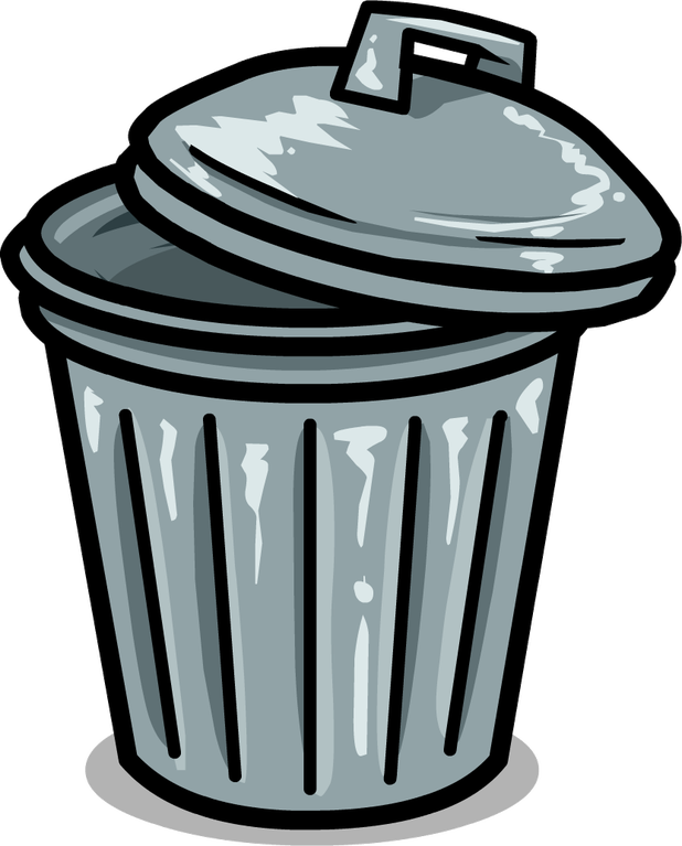png transparent Trashcan clipart cartoon. Trash can picture cartoonview