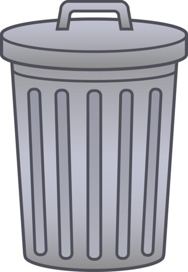 svg freeuse stock Trash can clip art. Trashcan clipart cartoon