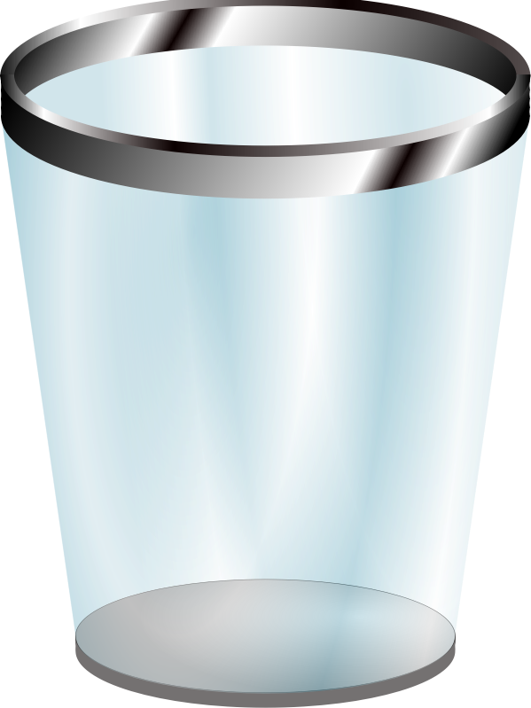 vector royalty free library Trashcan clipart empty. Transparent trash can medium