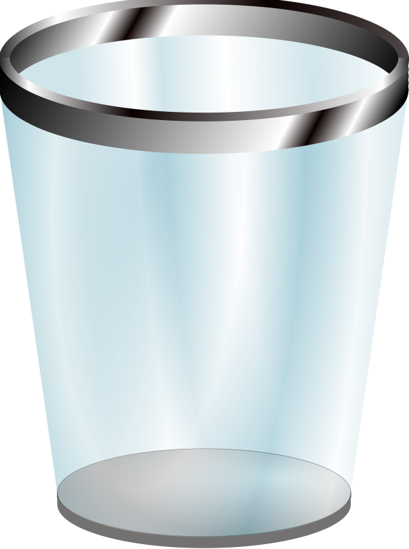 clip royalty free download Trashcan clipart empty. Trash can clip art