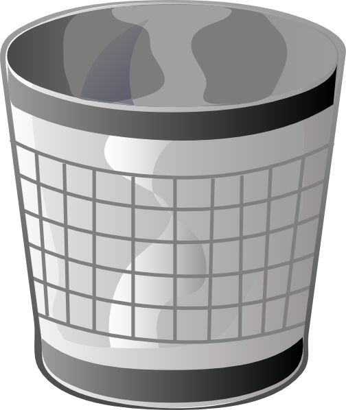 black and white download Trash bin clip art. Trashcan clipart empty