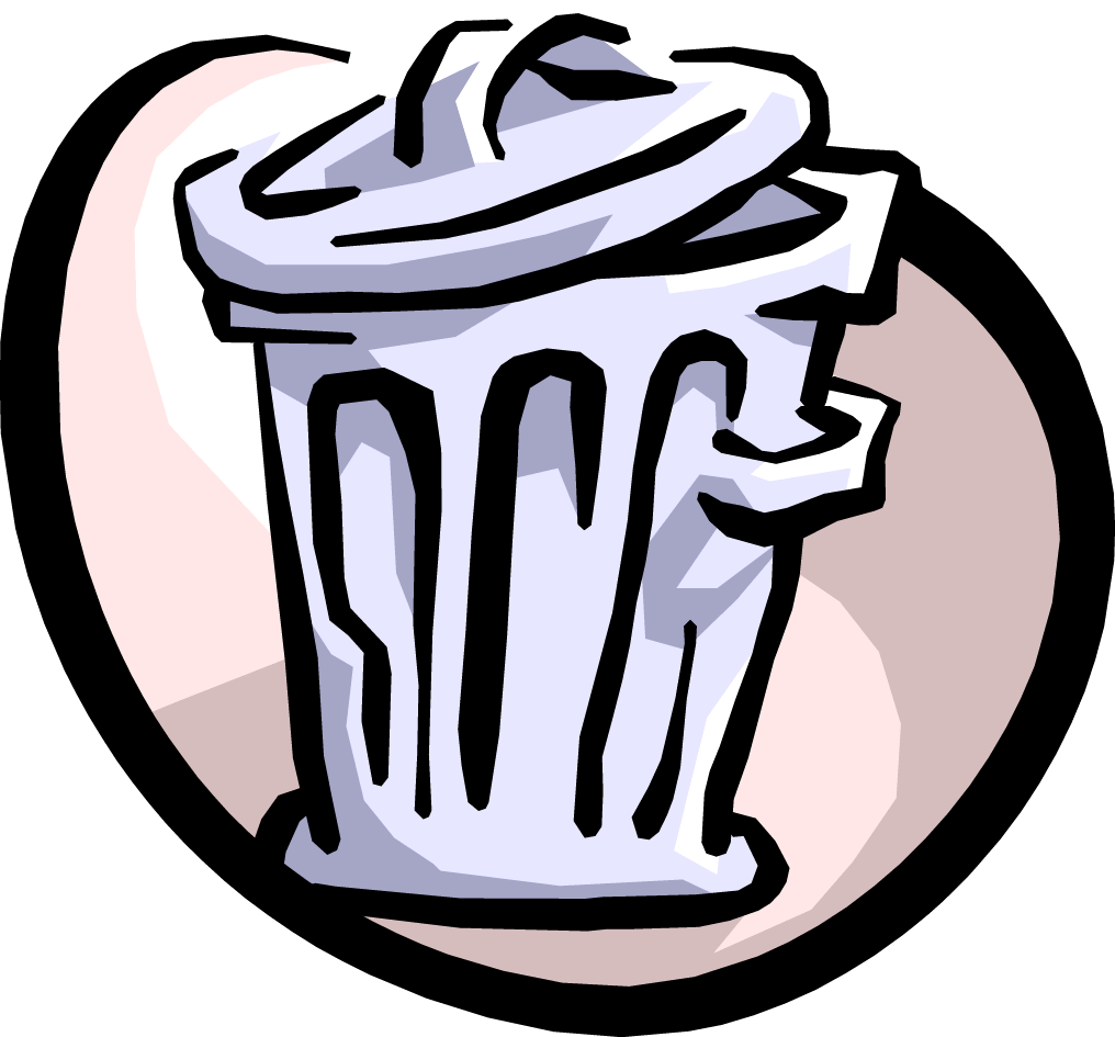 free stock Classroom trash can at. Trashcan clipart empty