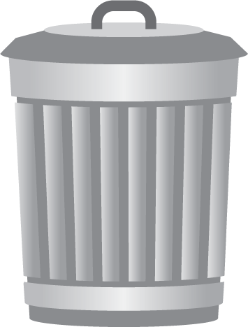 clipart black and white download Trashcan clipart garbage pail. Trash can in png