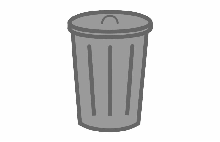 picture black and white download Trash can transparent background. Trashcan clipart garbage pail