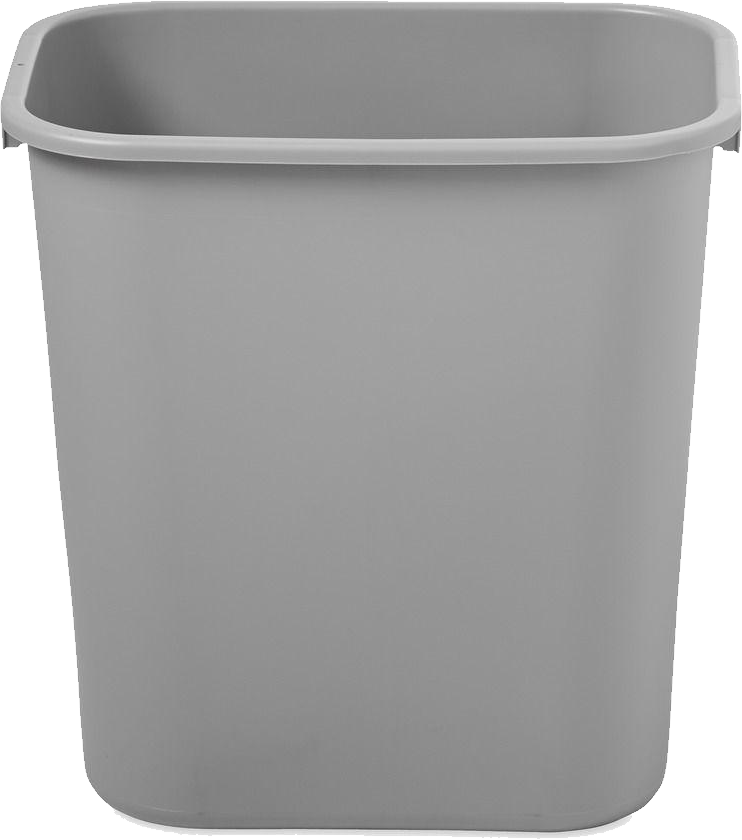 png black and white Trash Can Icon