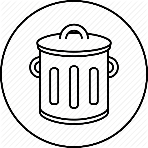 picture download Trashcan clipart garbage pickup. Trash bin drawing at