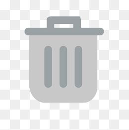 banner free download Gray trash png vectors. Trashcan clipart grey.