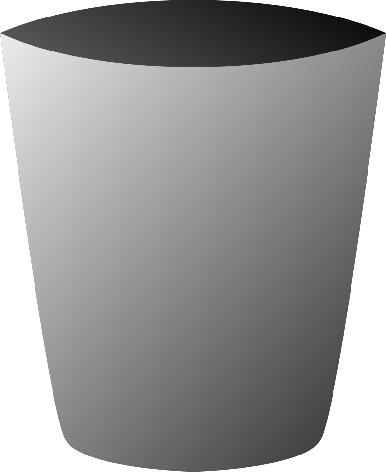 graphic free library Trashcan clipart grey. Trash can big image