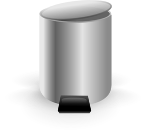 png library Trashcan clipart grey. Empty trash can clip