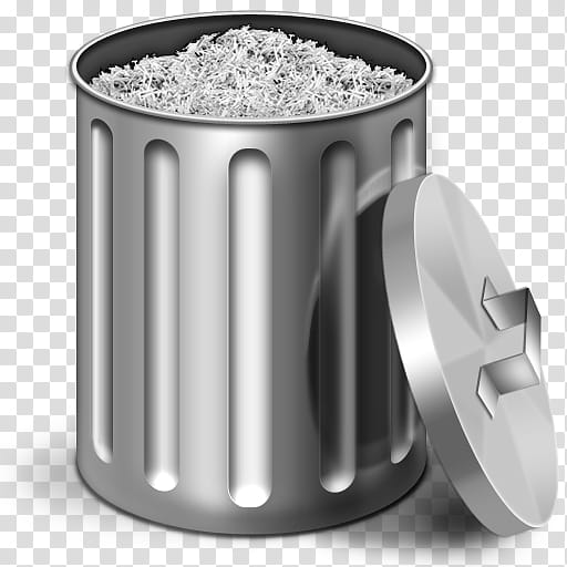 image freeuse library Trashcan clipart grey. Trash can icon illustration