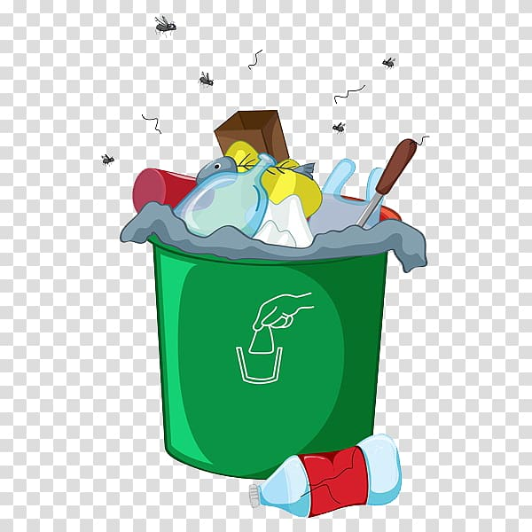 banner free stock Green garbage bin waste. Trashcan clipart odor.