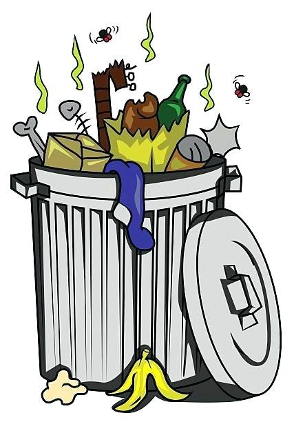 picture royalty free Trashcan clipart odor. Smelly garbage can hazelthelabel.