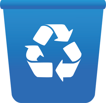 svg transparent Free recycle bin png. Trashcan clipart recycling box