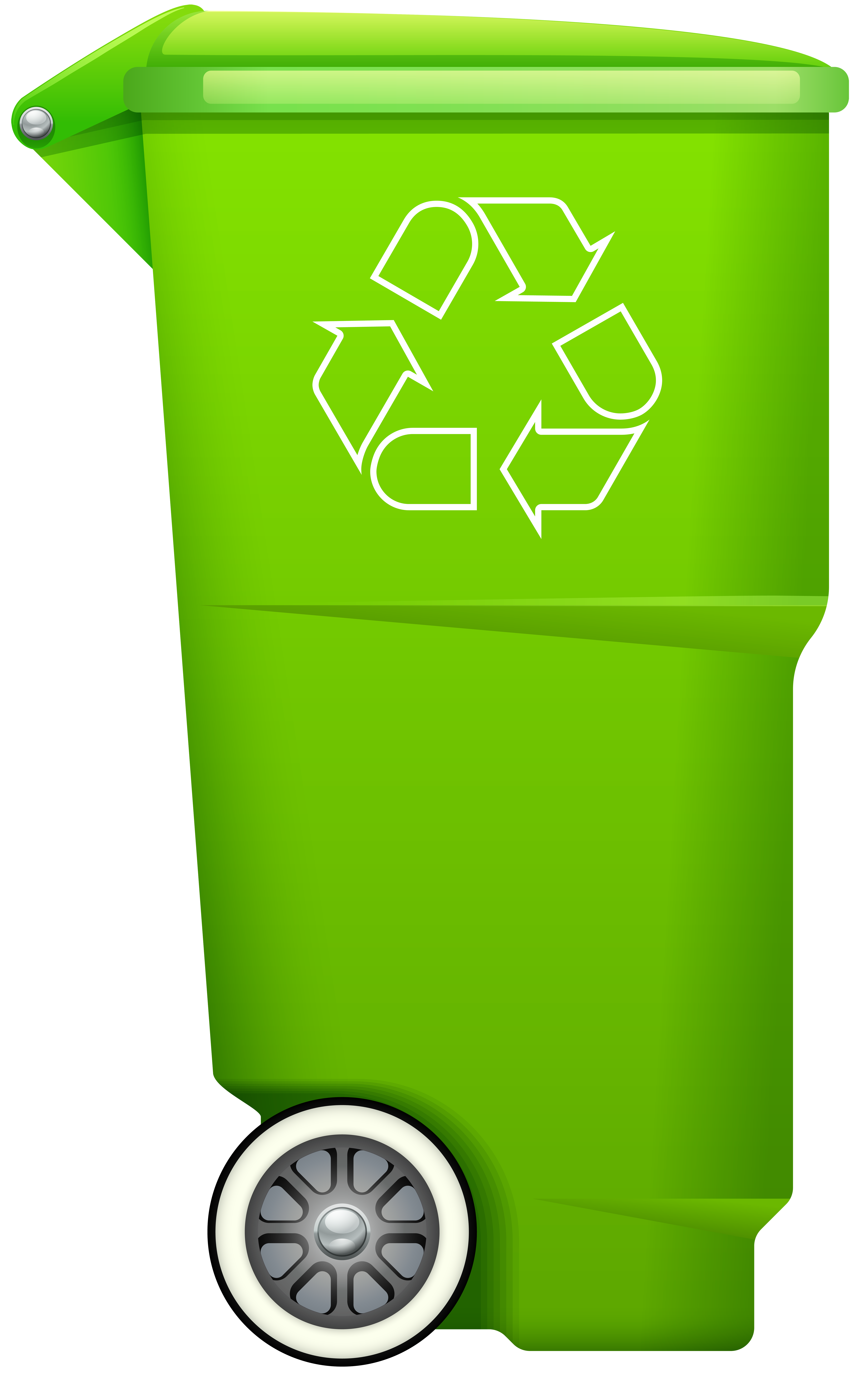 clip art royalty free stock Trashcan clipart recycling box. Garbage trash bin with.