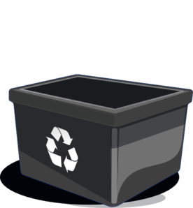 clip freeuse Recycle bin clip art. Trashcan clipart recycling box.