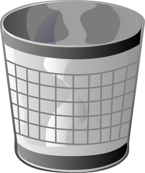 clip art royalty free library Empty Trash Bin Clip Art at Clker