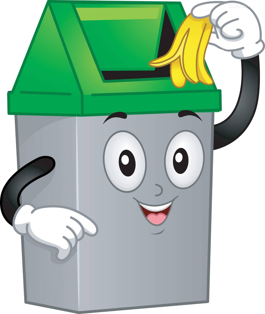 graphic library download Container clip art cartoon. Trashcan clipart waste product