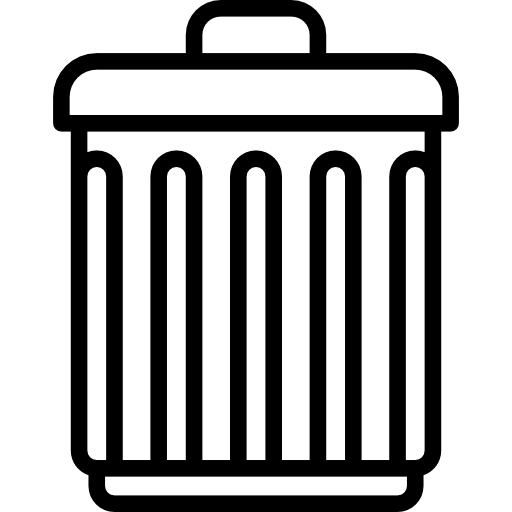 black and white stock Trash bin tools and. Trashcan clipart waste product