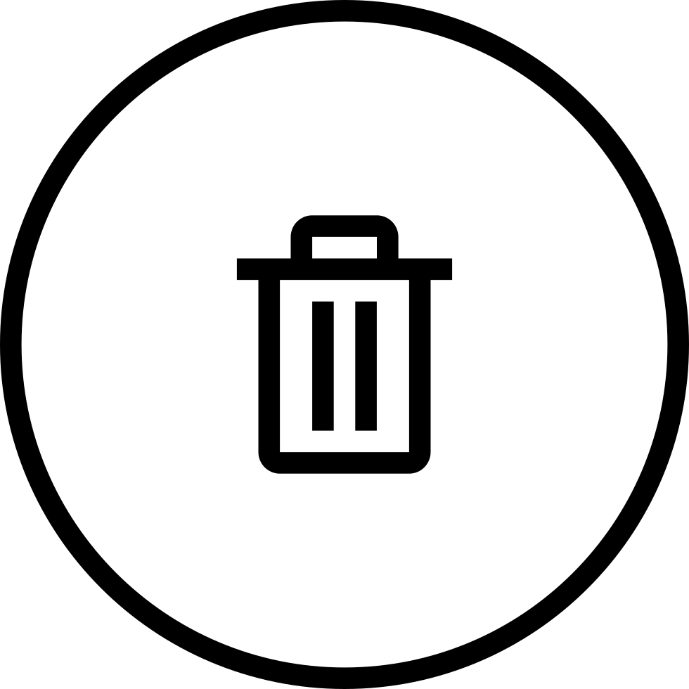 clipart black and white Trash Can Circular Outlined Button Svg Png Icon Free Download