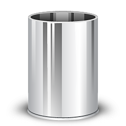 graphic stock trashcan icon