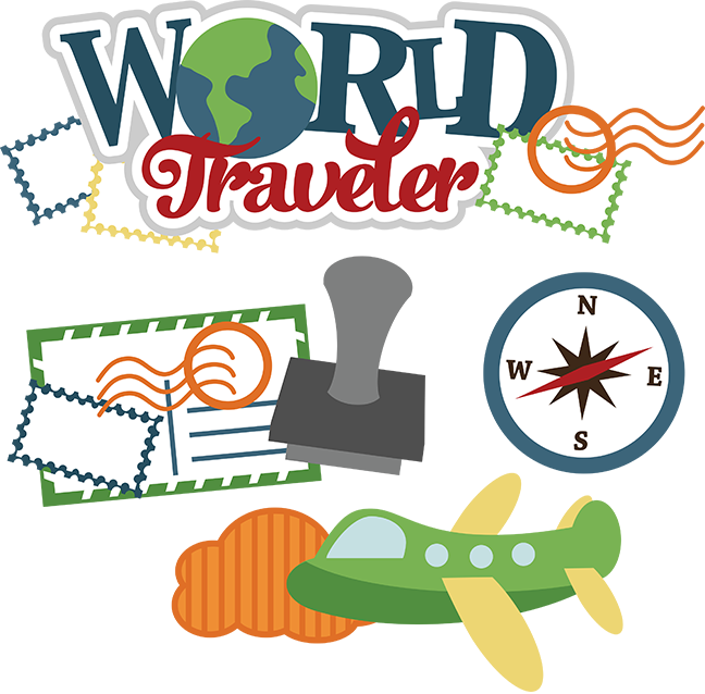 freeuse download Airplane around the world clipart. Traveler svg vacation file