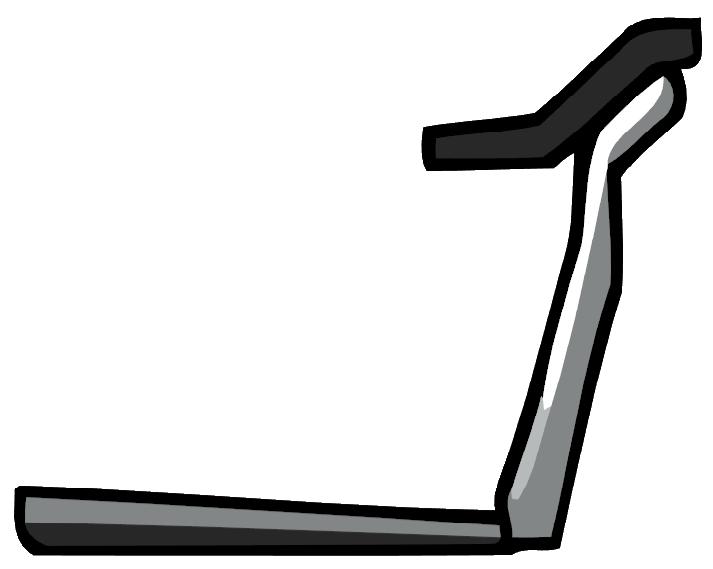 clip black and white stock Treadmill