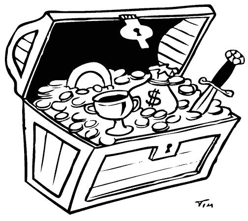 banner free stock Treasure Chest Drawing at GetDrawings