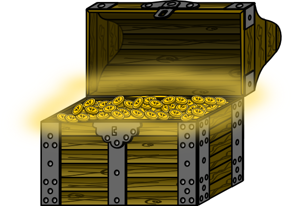 svg royalty free library Treasure Chest Clip Art at Clker