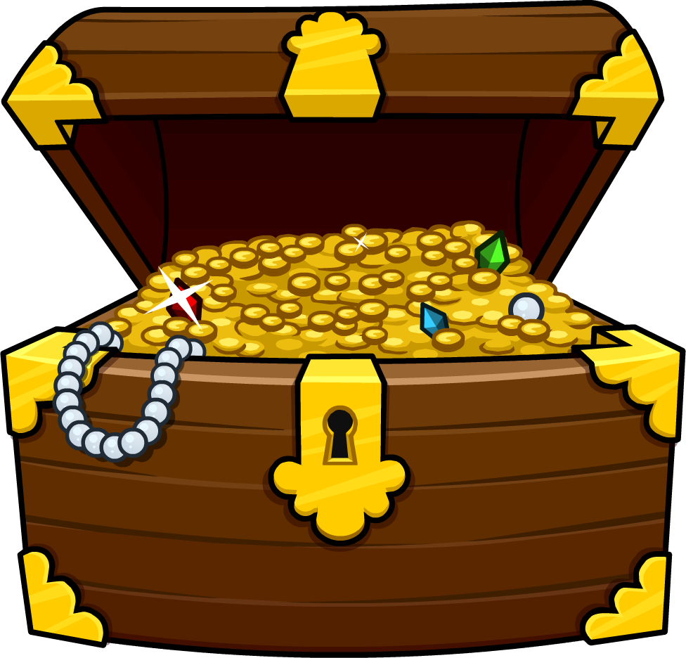 png black and white stock Treasure box free . Chest clipart.