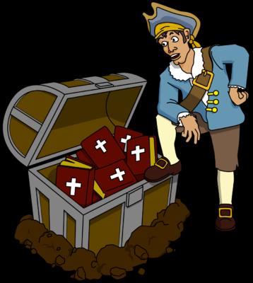 picture black and white stock Jewel clipart pirate. Treasure cilpart tremendous image