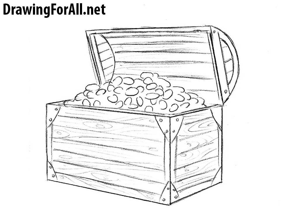 svg freeuse How to draw a. Treasure drawing