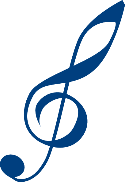 image transparent download Blue clip art at. Treble clef clipart